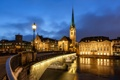 Картинка фонари, Hardbrücke, дома, Цюрих, Zürich, церковь, мост