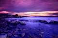 Картинка море, закат, камни, берег