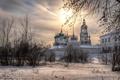 Картинка закат, зима, Свято-Введенский Толгский женский монастырь