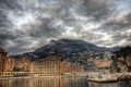 Картинка небо, облака, горы, город, фото, побережье, HDR