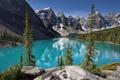 Картинка природа, горы, снег, Канада, озеро