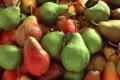 Картинка краски, урожай, фрукты, груши