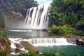 Картинка лес, река, China, водопад, Китай, Guizhou, Хуангошу
