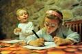 Картинка дети, мальчик, девочка, рисование