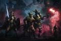 Картинка оружие, люди, магия, арт, солдаты, воины