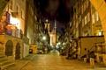 Картинка HDR, фото, фонари, ночь, Польша, улица, город