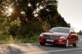 Картинка дорога, солнце, свет, деревья, widescreen, дороги, Mercedes