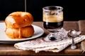 Картинка кофе, пончики, крем, good morning