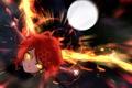 Картинка девушка, огонь, магия, крылья, аниме, арт, pixiv fantasia